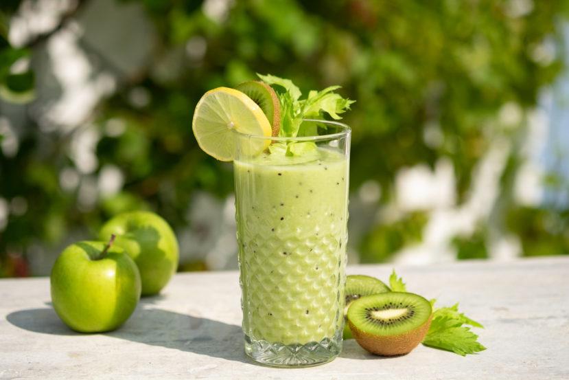 AIP groene smoothie met appel en kiwi