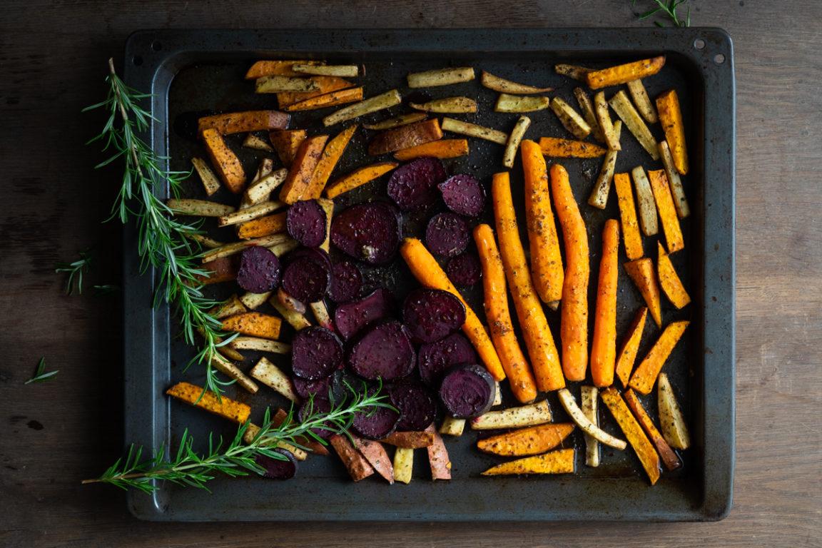 Geroosterde wortelgroenten met kruiden AIP