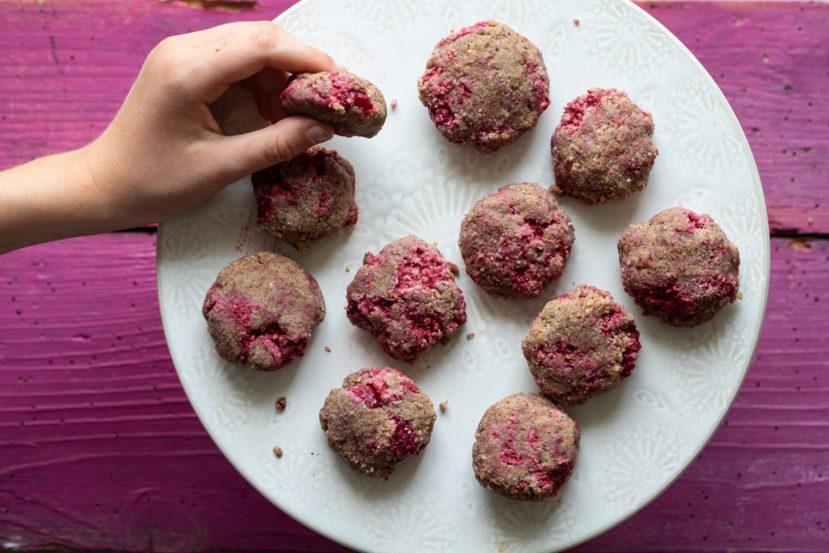 No-bake cookies met frambozen AIP