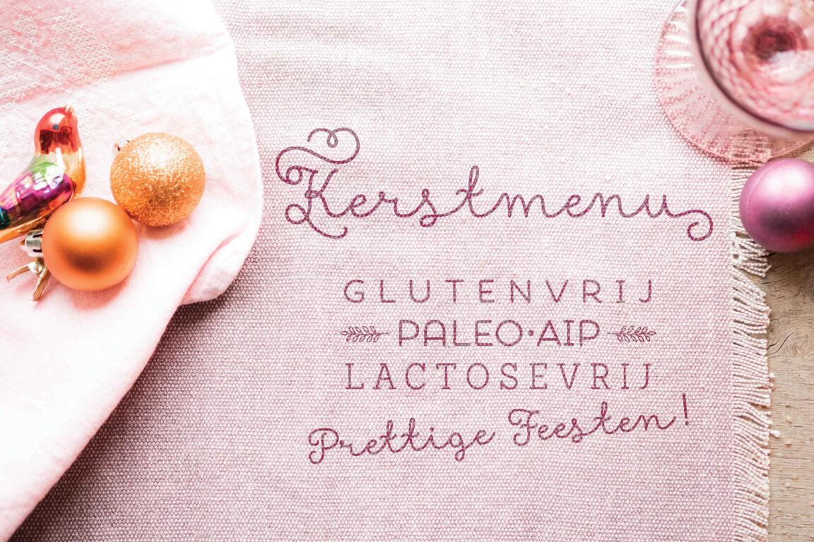 Kerstmenu paleo AIP glutenvrij lactosevrij zonder noten