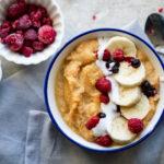 Warme ontbijtpap zonder granen, noten of zuivel